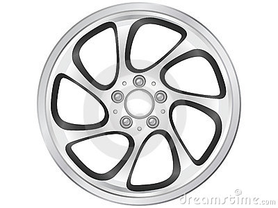 Wheel rims clipart #13