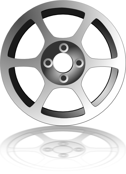 Train car wheels clipart.