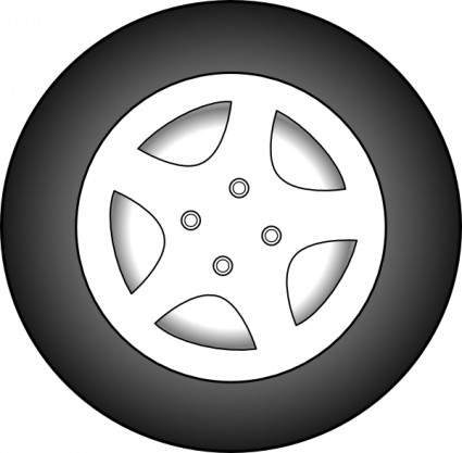 Tires and rims clipart.