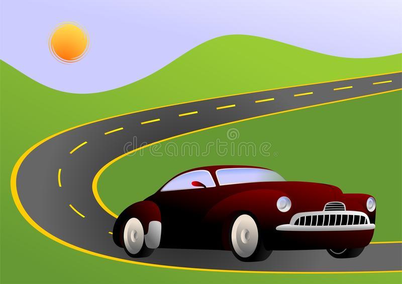Car Road Stock Illustrations.