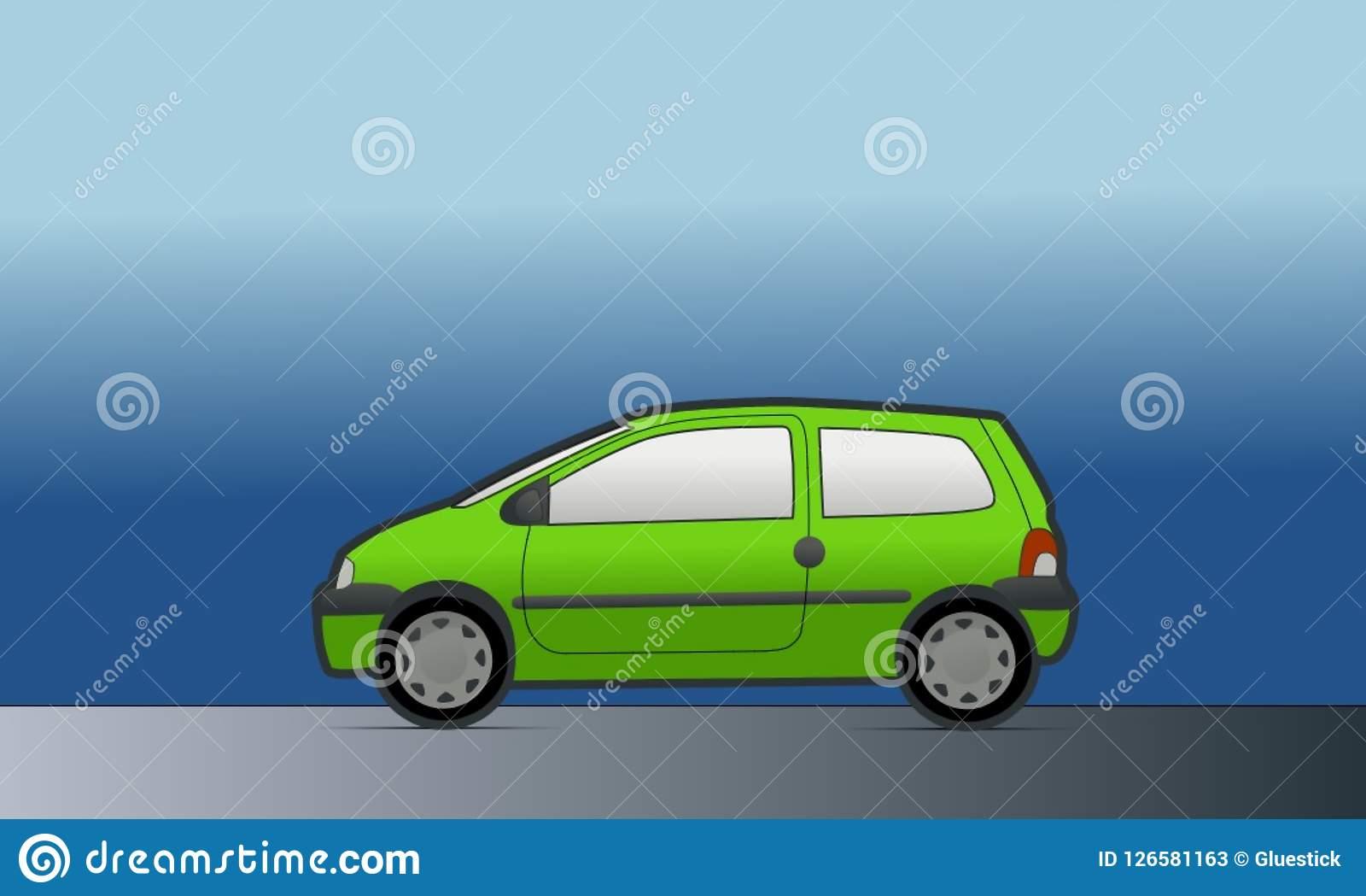 Green Car Clipart stock illustration. Illustration of trasport.