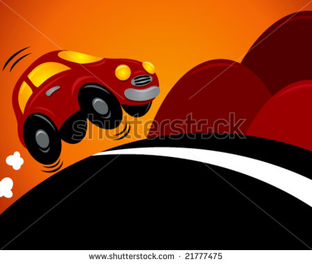 Showing post & media for Cartoon car going uphill.