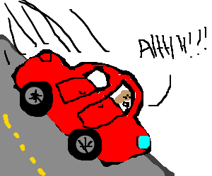 Showing post & media for Cartoon car going downhill.