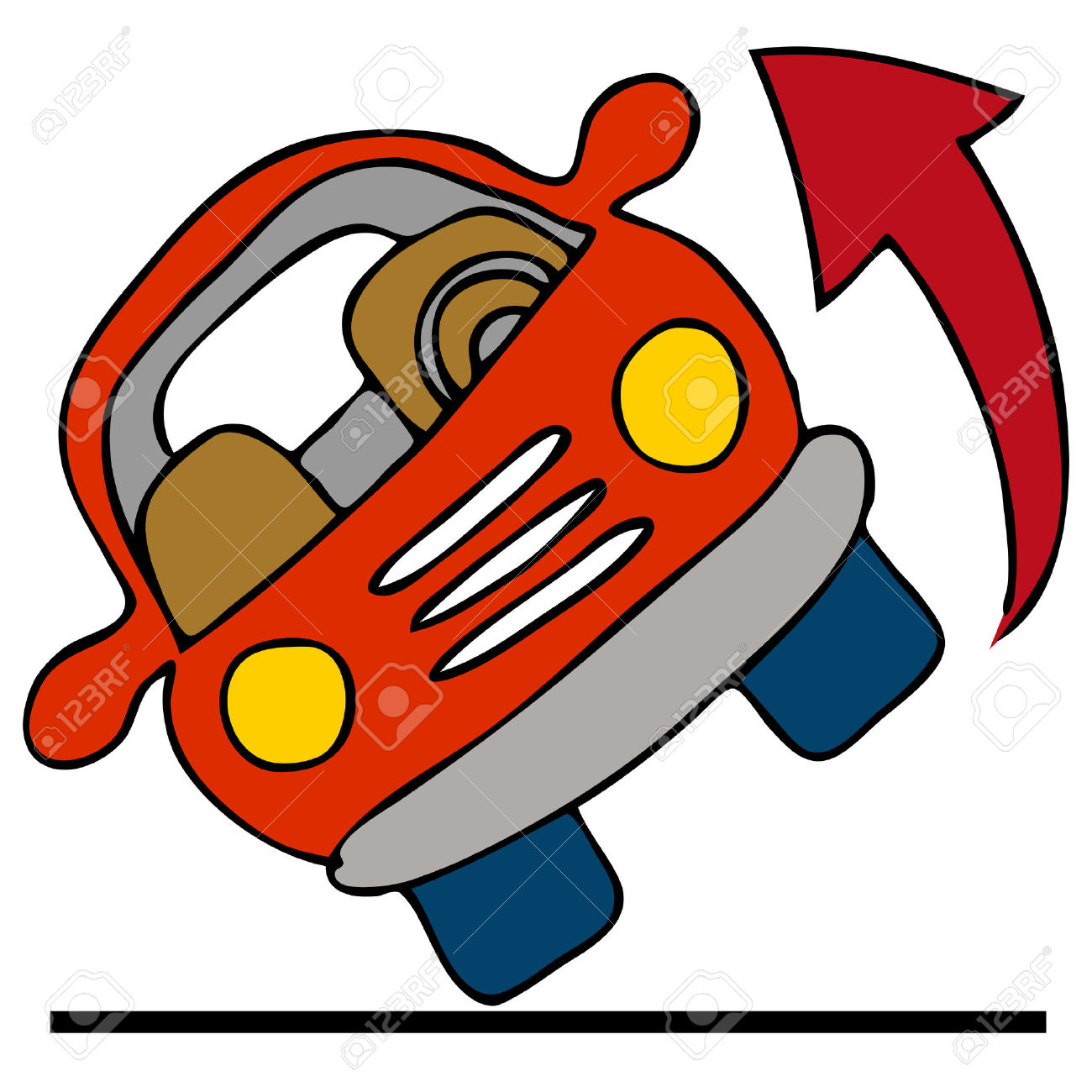 Rolling A Car Clipart.