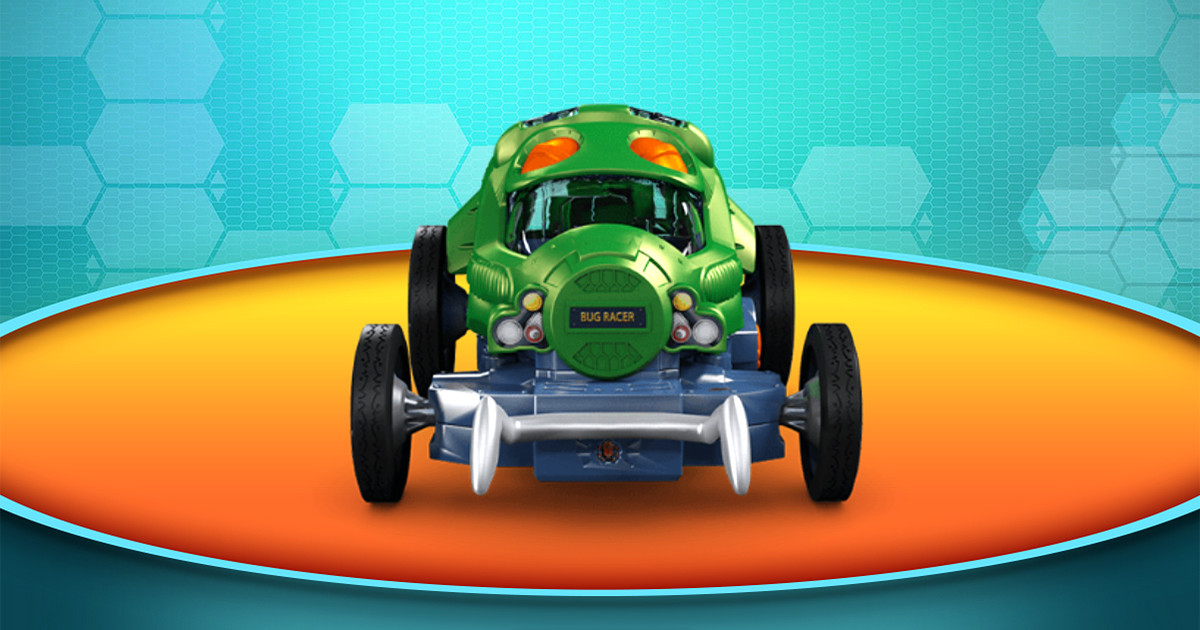 Um So the Bug Racer Is an Actual Toy Car Driven by Crickets.