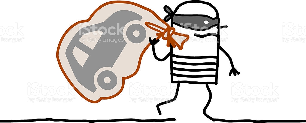 Car Robber Running Away stock vector art 184589587.