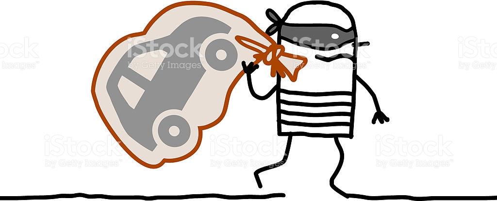 Car Robber Running Away stock vector art 184589587.
