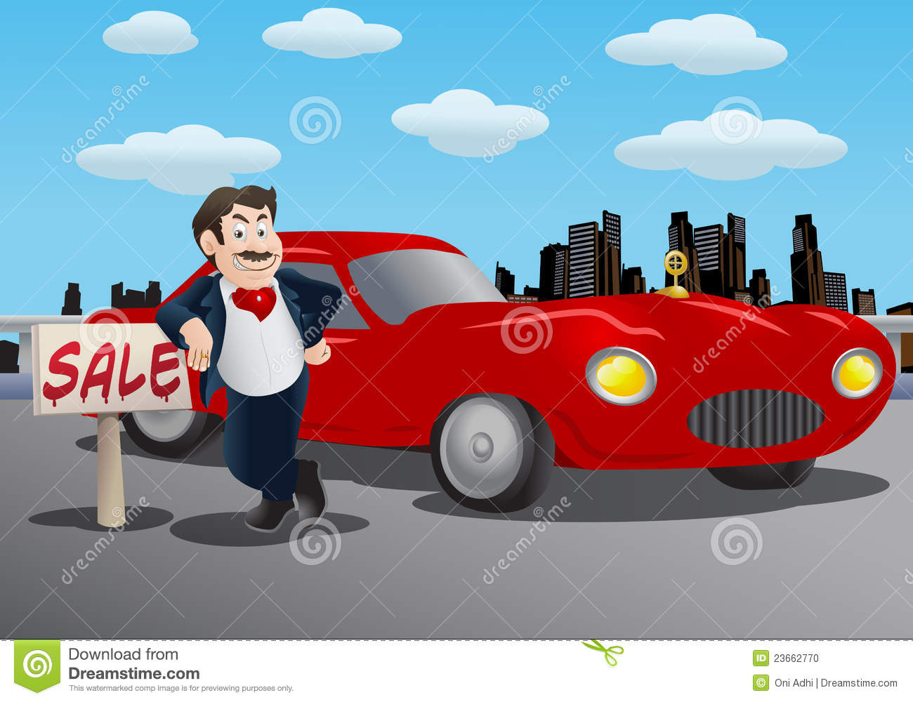 Car Salesman Stock Illustrations.