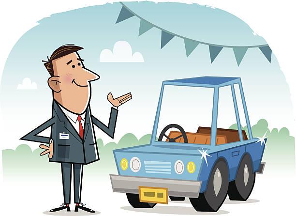 Car Salesman Clip Art, Vector Images & Illustrations.