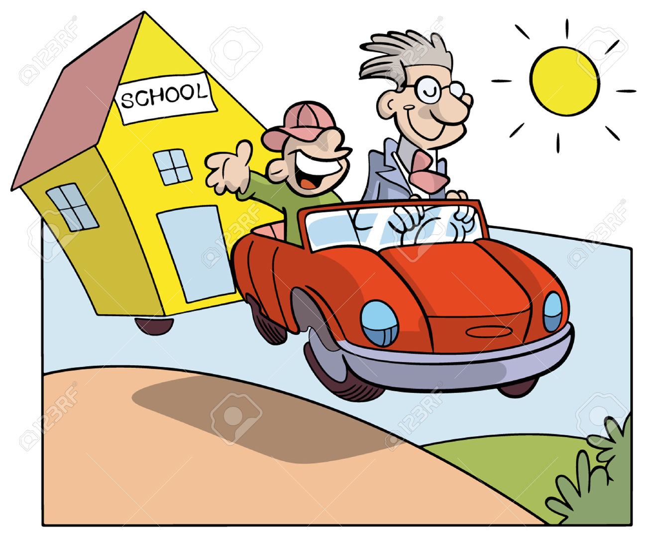 Clipart School Car.