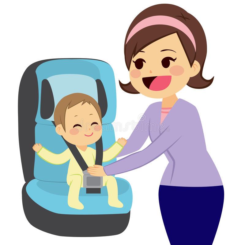 Car Seat Stock Illustrations.