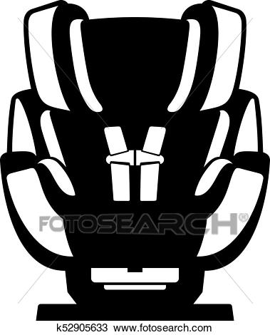 Safety car seat for a baby Clipart.