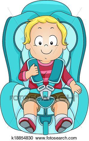 Toddler Car Seat Clipart.