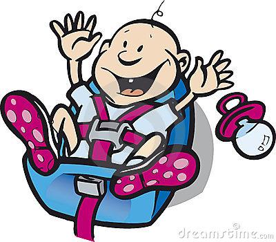 Baby Car Seat Stock Illustrations.