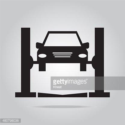Car service icon Clipart Image.