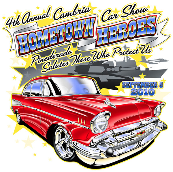 Free classic car show hood open clipart.