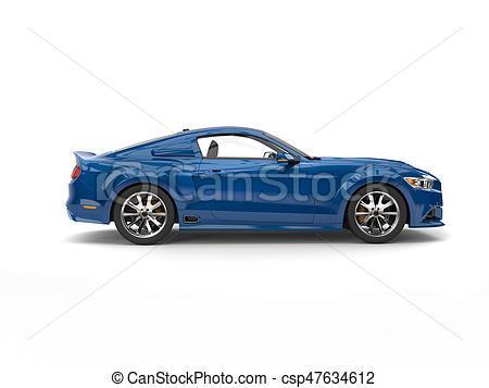 Sea blue modern urban car.