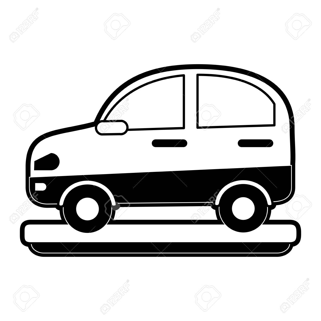 Car side view icon.