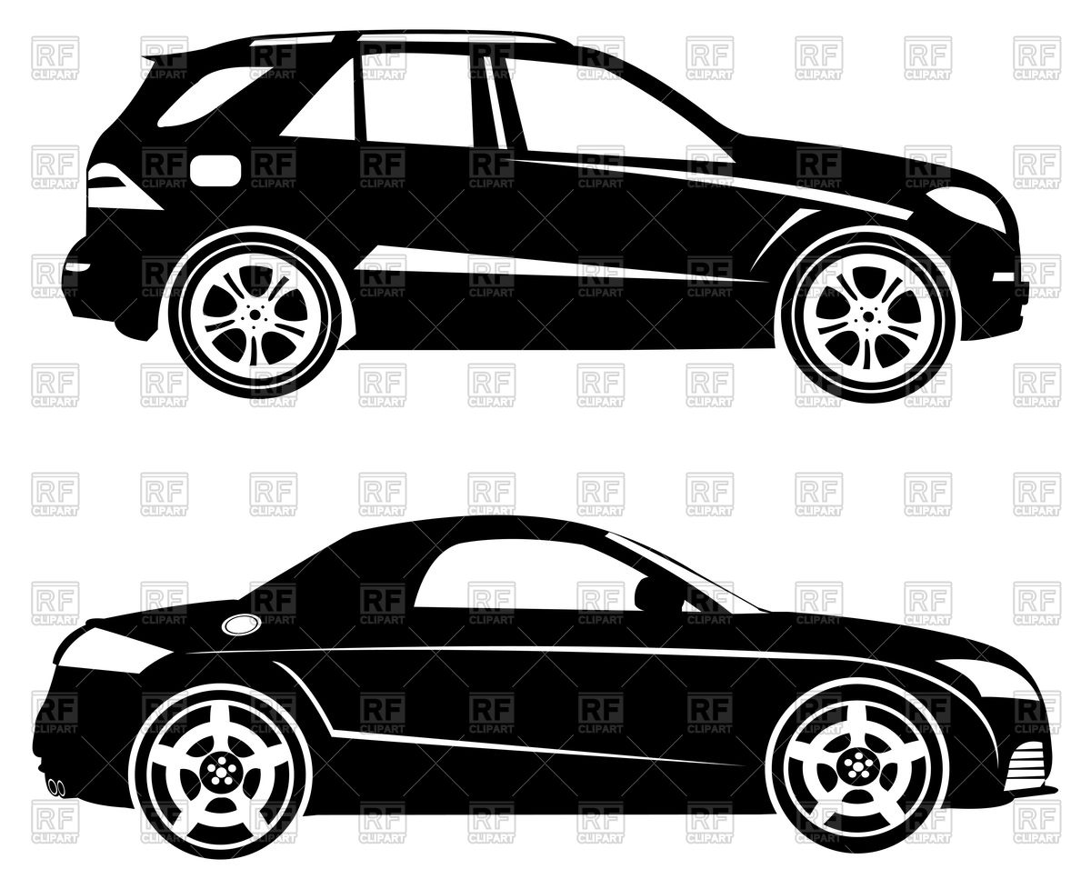 Silhouettes of cars.
