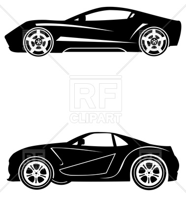 Silhouettes of sport cars.