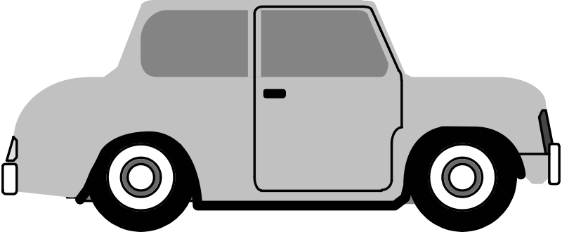 Free Clipart: Car side view.