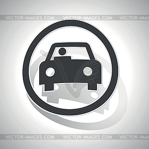 Curved car sign icon.