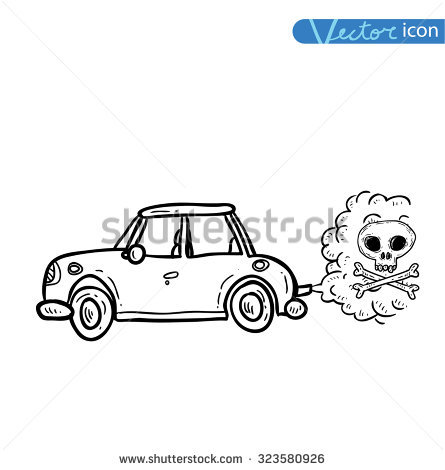 Car Emitting Smoke Vector Stock Vector 344889329.