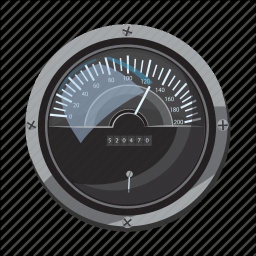 'Car speedometers.