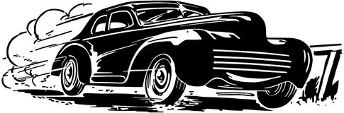 Speeding Car Stock Illustrations.