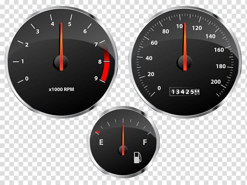 Car Speedometer Tachometer Fuel gauge, Auto dial transparent.