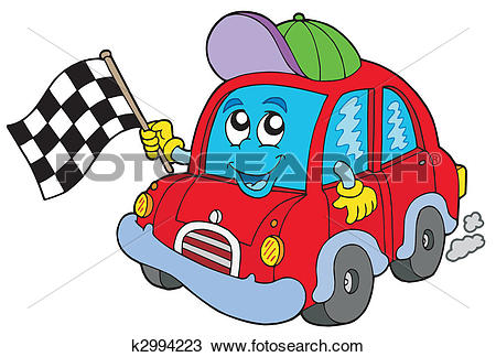 Clipart of Car race starter k2994223.
