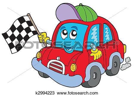 Clipart of Car race starter k2994223.