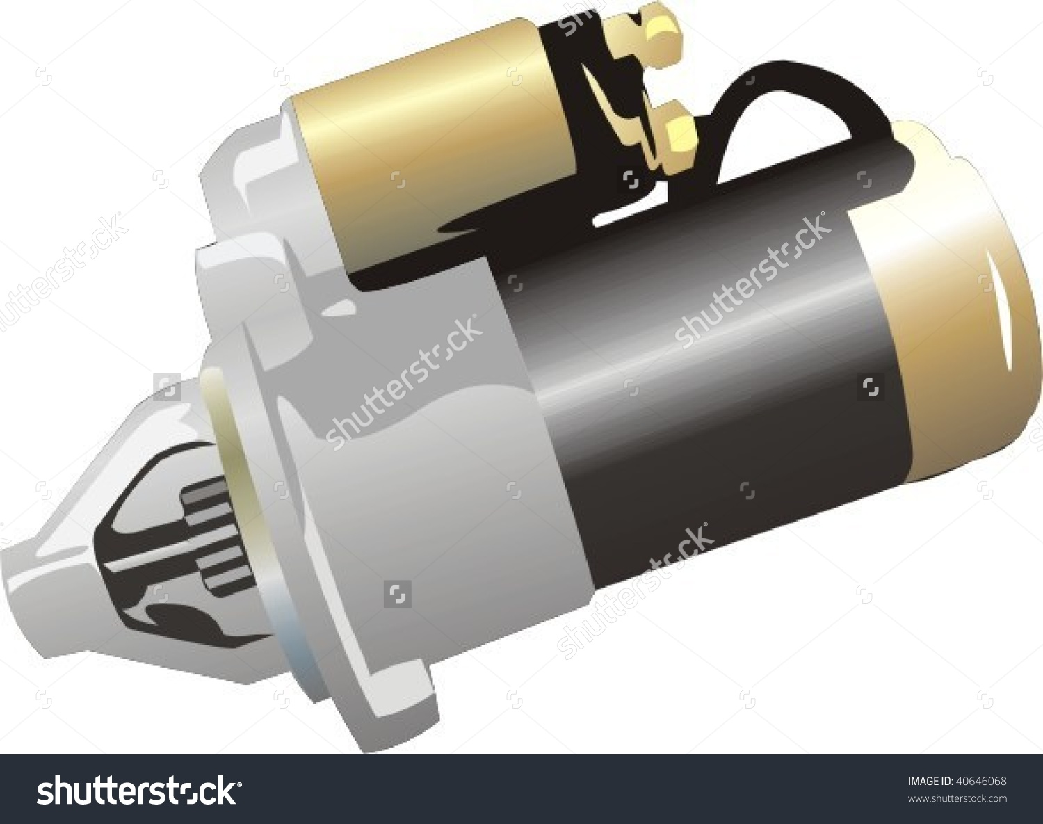 Vector Car Engine Starter Stock Vector 40646068.