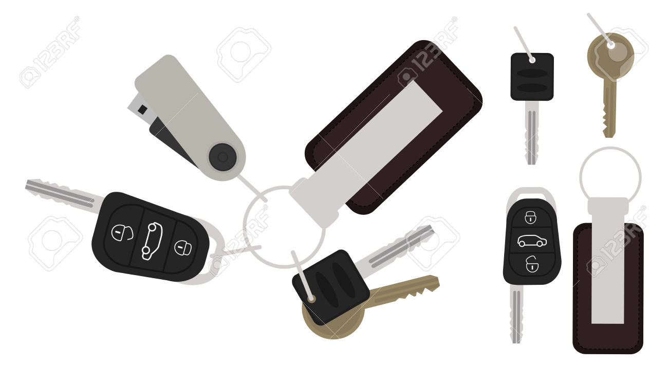 Car starter for keys clipart.