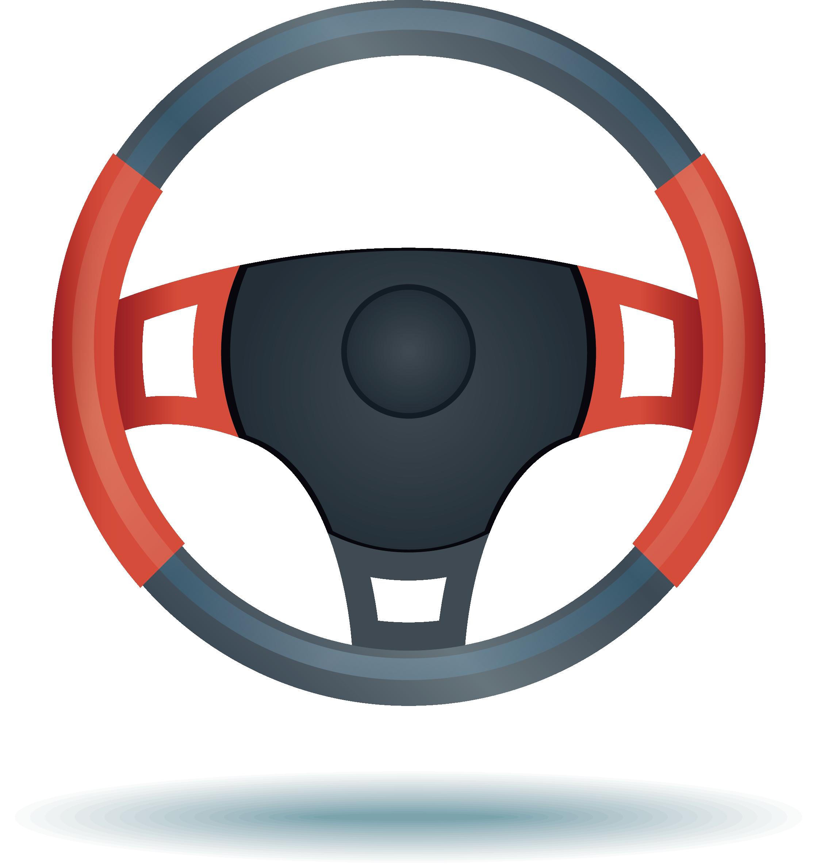 Car Steering wheel Euclidean vector.