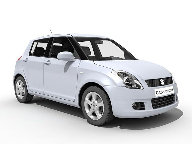 Suzuki Swift Car 3d model 3ds Max files free download.
