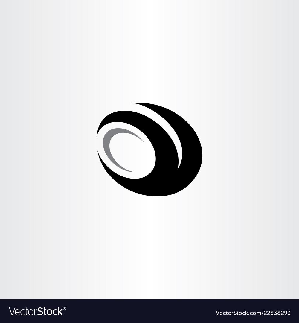 Car tire logo black icon clip art.