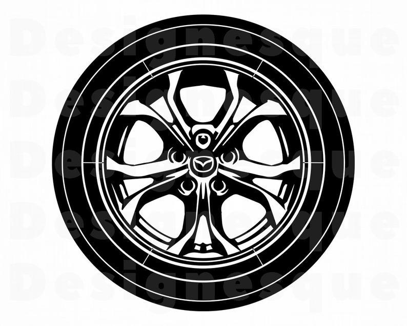 Wheel #2 SVG, Wheel Svg, Car Tire Svg, Wheel Clipart, Wheel Files for  Cricut, Wheel Cut Files For Silhouette, Wheel Dxf, Png, Eps, Vector.