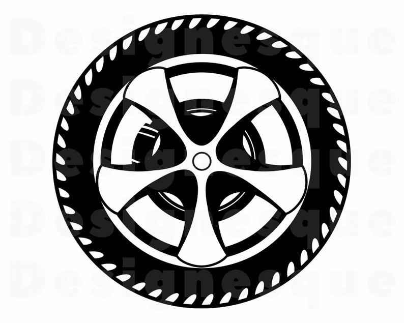 Wheel SVG, Car Tire Svg, Car Wheel Svg, Wheel Clipart, Wheel Files for  Cricut, Wheel Cut Files For Silhouette, Wheel Dxf, Png, Eps, Vector.
