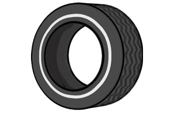 Car tires clipart #16