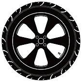 Black tire clipart.