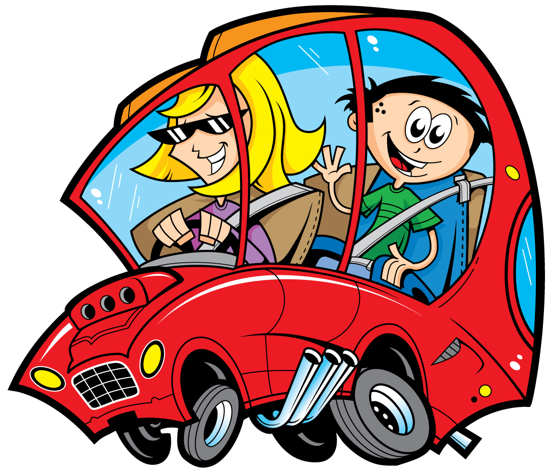 Family Car Travel Clipart.