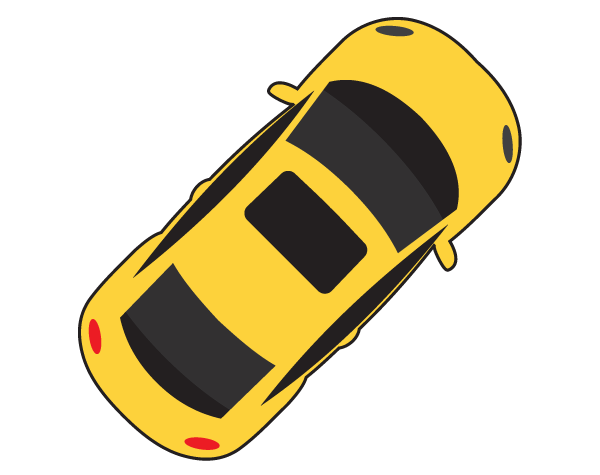 Car Top View Vector Free.