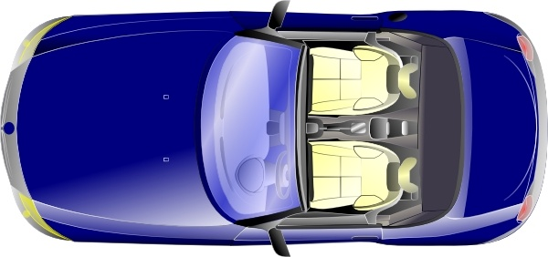 Bmw Z Top View clip art Free vector in Open office drawing.