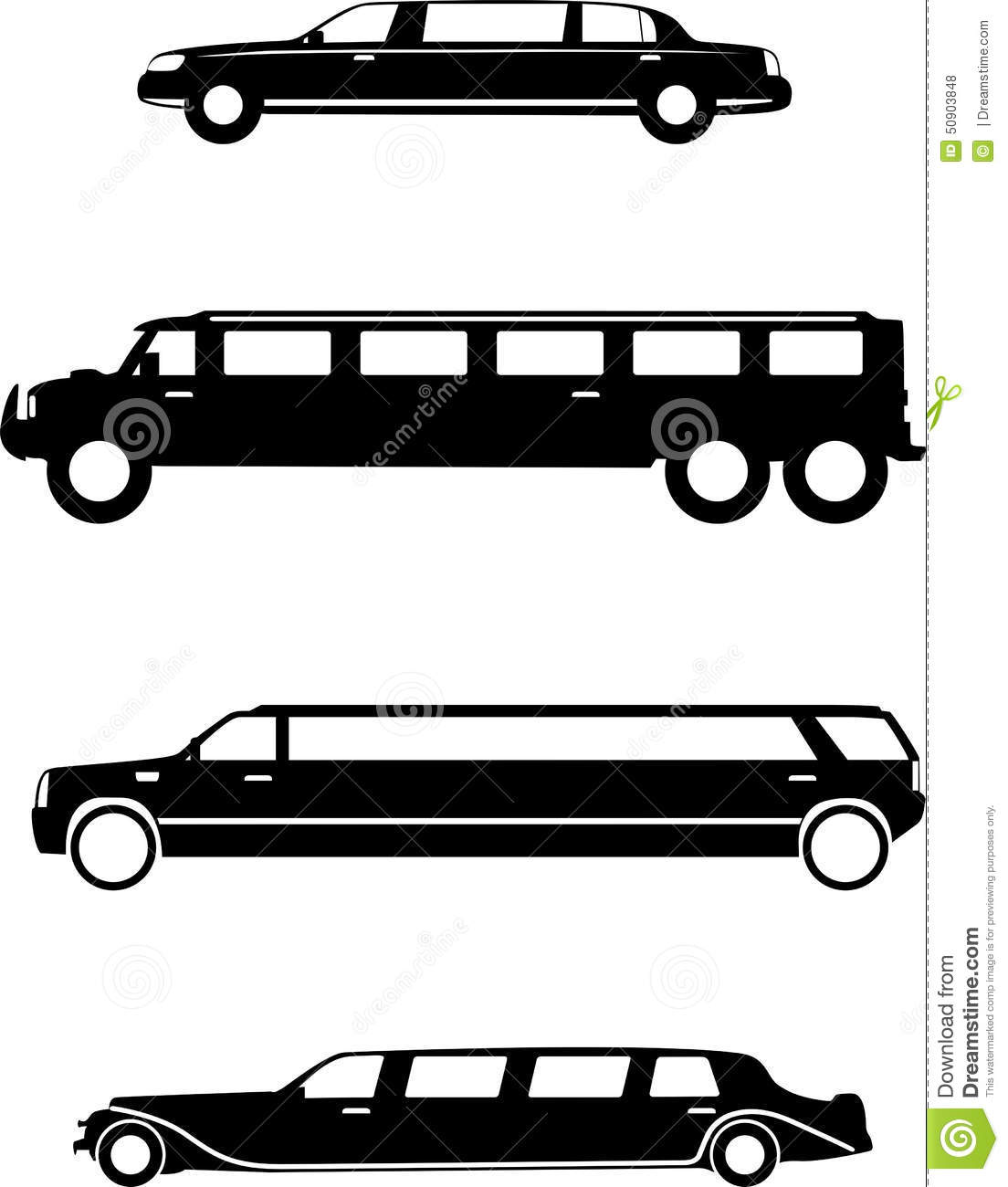 Limousine Stock Vector.
