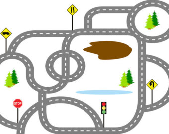 Car Track Clipart.