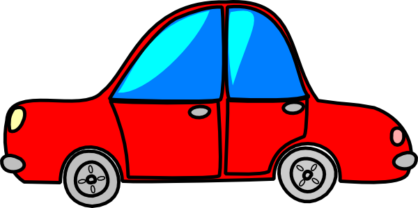 Car Red Cartoon Transport Clip Art at Clker.com.