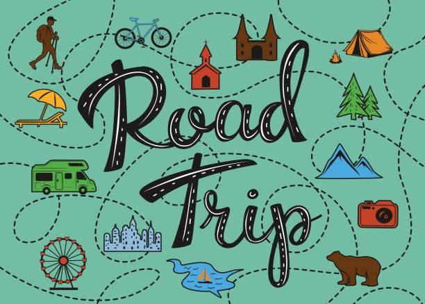 Best Road Trip Illustrations, Royalty.