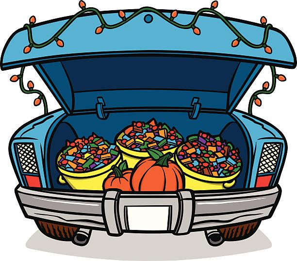 Best Car Trunk Illustrations, Royalty.