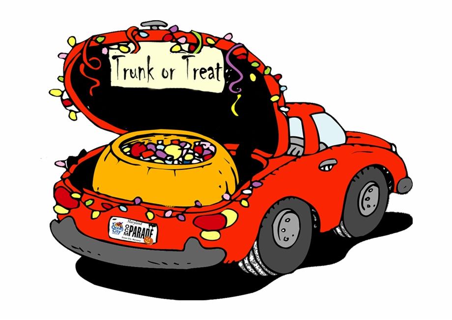 Trunk Or Treat Cartoon Car.